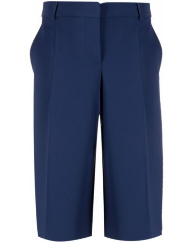 Синие шорты с карманами из вискозы Boutique Moschino