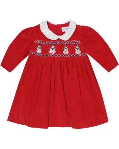 Sukienka z haftem bawełniana Rachel Riley
