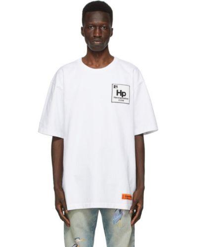 Bawełna czarny koszula krótkie rękawy z haftem Heron Preston