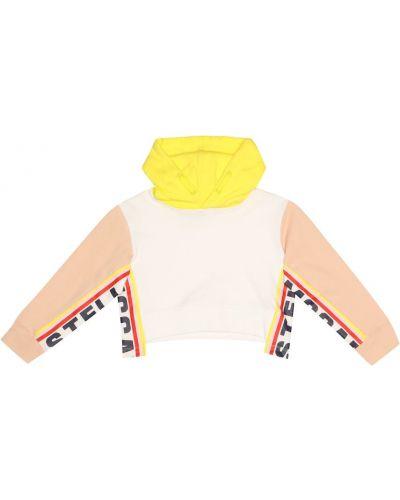 Miękki bawełna bawełna biały bluza z kapturem Stella Mccartney Kids