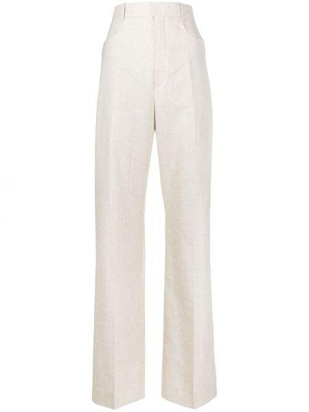 Prosto bawełna klasyczny klasyczne spodnie z paskiem Jacquemus