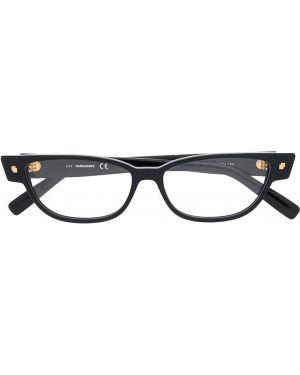 Черные очки кошачий глаз квадратные Dsquared2 Eyewear