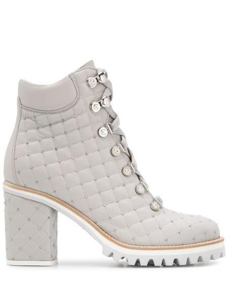 Ботинки на каблуке без каблука на шнуровке Le Silla