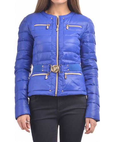 Синий пуховик Versace Jeans