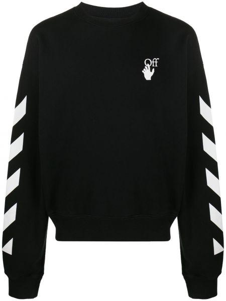 Czarna bluza z długimi rękawami bawełniana Off-white