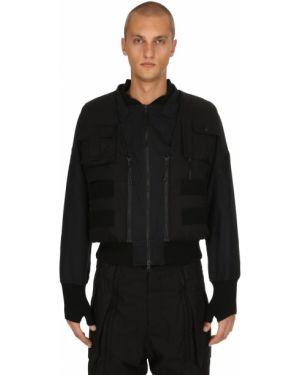 Prążkowana czarna kurtka Nilmance