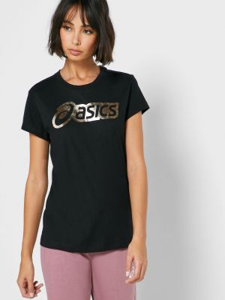 Спортивная футболка - черная Asics