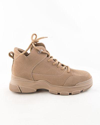 Кожаные ботинки - бежевые Prima D'arte