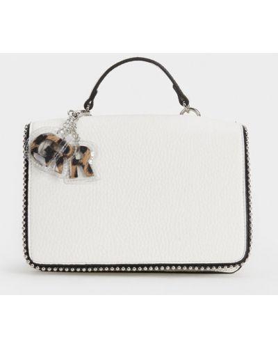 Skórzany portfel biały Parfois