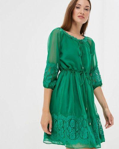 Зеленое платье с длинными рукавами Lusio