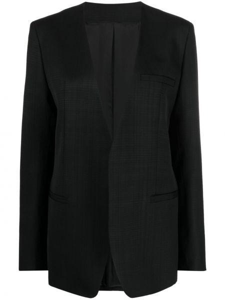 Черный пиджак с карманами с V-образным вырезом Toteme