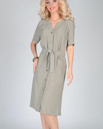 Платье с поясом на пуговицах сафари Open Fashion Premium
