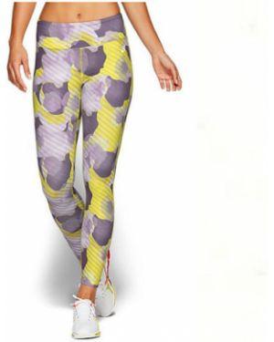 Укороченные брюки с рисунком фиолетовые Asics