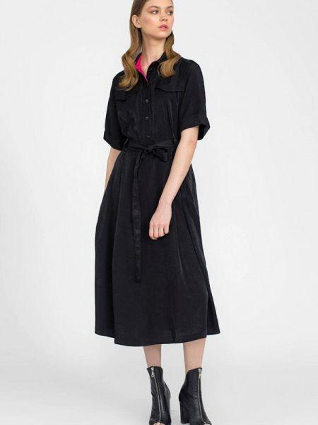 Платье платье-рубашка черное Lo