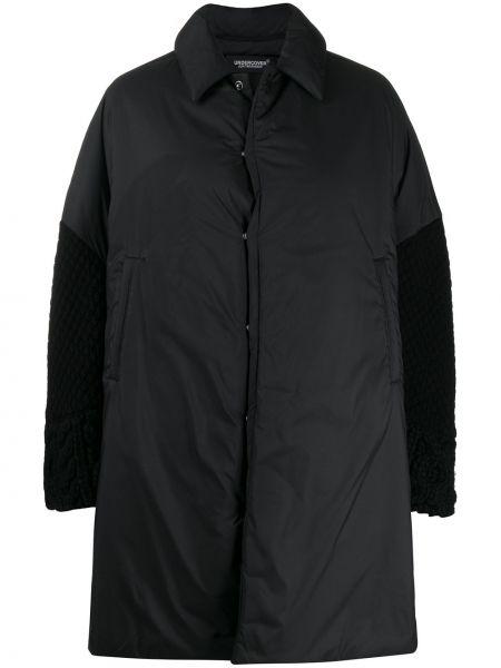 Шерстяное черное пальто классическое оверсайз Undercover
