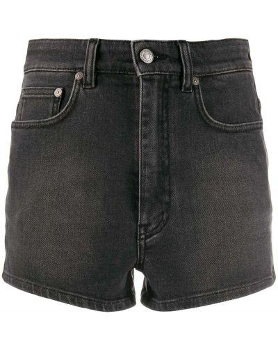 Серые джинсовые шорты с карманами со стразами Givenchy