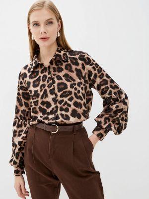 Коричневая блузка с рюшами Indiano Natural