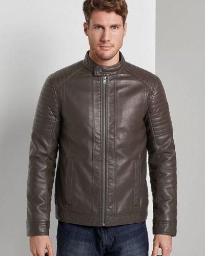 Кожаная куртка - коричневая Tom Tailor