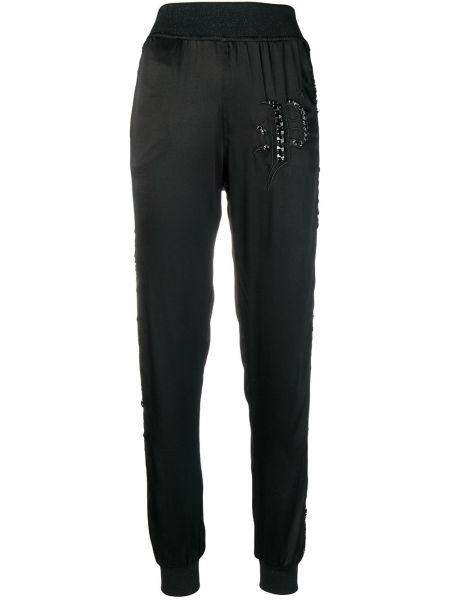 Szerokie spodnie sportowe z wysokim stanem Philipp Plein