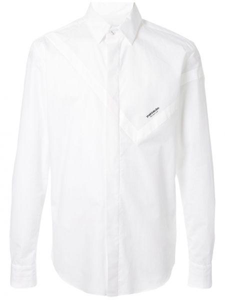 Асимметричная классическая рубашка с воротником на пуговицах Yoshiokubo