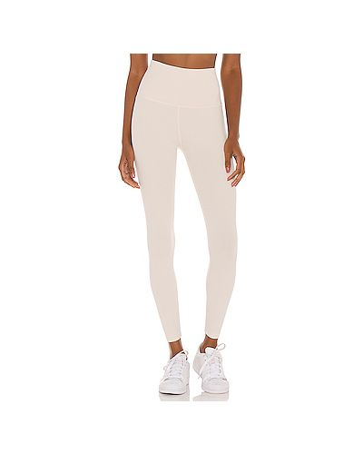 Бежевые брюки стрейч для йоги Beyond Yoga