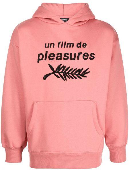 Bluza z kapturem - różowa Pleasures