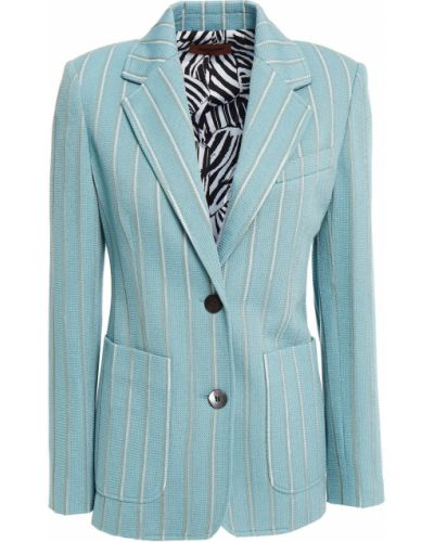 Бирюзовый пиджак с накладными карманами из вискозы Missoni