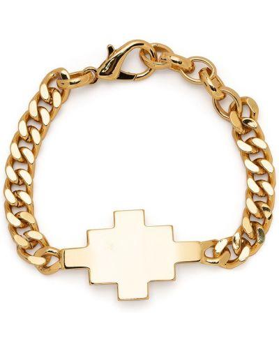 Золотистый крест золотой металлический Marcelo Burlon. County Of Milan