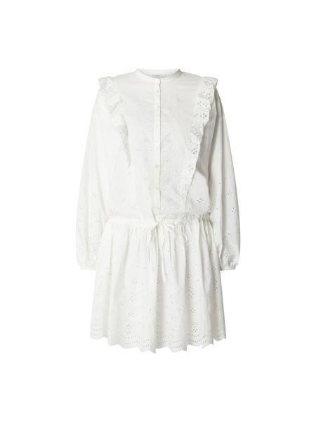 Biała sukienka rozkloszowana z długimi rękawami Closed