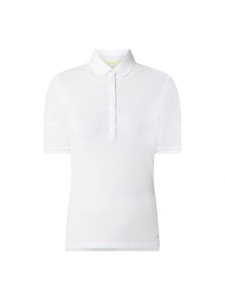 Biały t-shirt bawełniany Brax