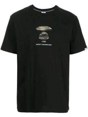 Czarna t-shirt krótki rękaw Aape By A Bathing Ape