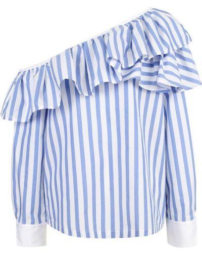 Блузка с длинным рукавом в полоску синяя Clu
