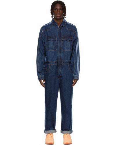 Джинсовый комбинезон длинный - синий Adidas X Ivy Park