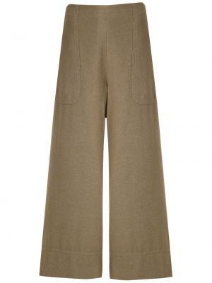 Укороченные брюки с карманами свободного кроя с высокой посадкой на молнии Osklen