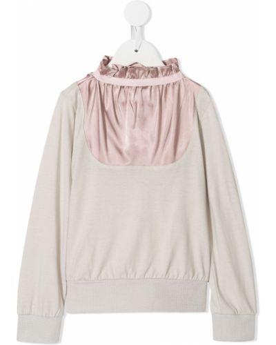 Розовый свитер на пуговицах Owa Yurika