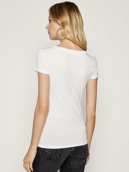 Хлопковая базовая футболка с вырезом Armani Exchange