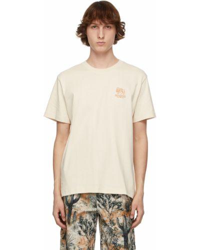 Beżowy t-shirt bawełniany krótki rękaw Carne Bollente