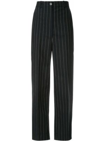 Черные брюки с воротником с карманами на пуговицах Nehera