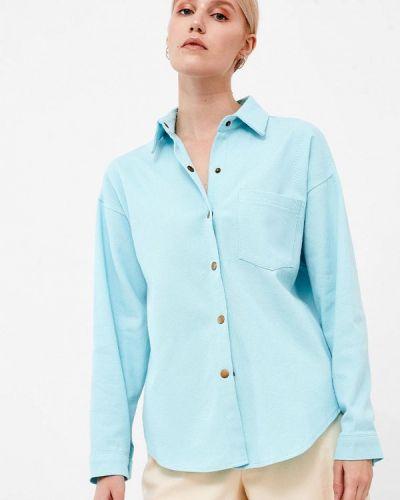 Рубашка с длинным рукавом - голубая Dorogobogato
