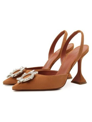 Коричневые туфли осенние Amina Muaddi