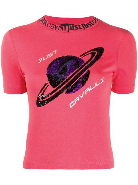 Топ с пайетками розовый Just Cavalli