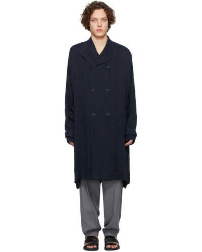 С рукавами длинное пальто двубортное с воротником Giorgio Armani