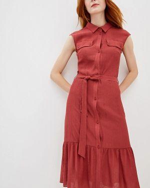 Платье бордовый платье-рубашка La Fleuriss