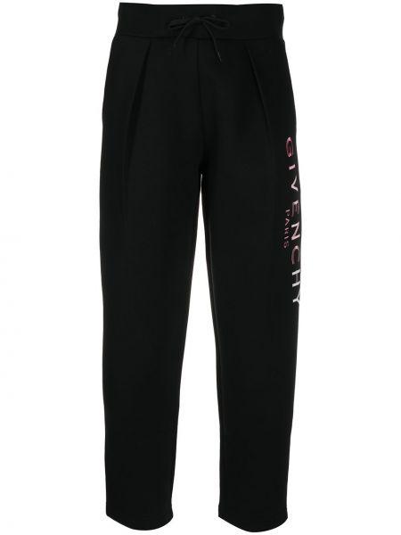 Bawełna czarny joggery z kieszeniami z haftem Givenchy