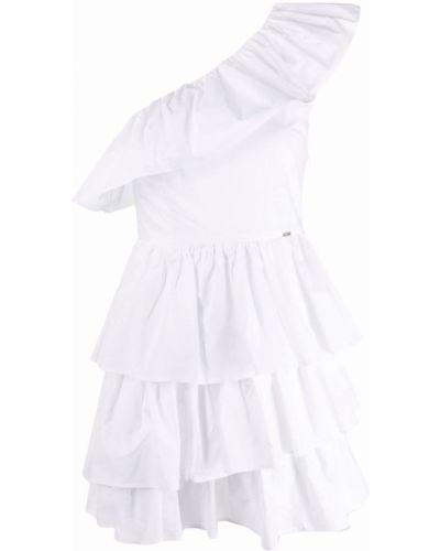 Белое хлопковое платье Liu Jo
