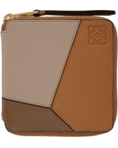 Czarny portfel na monety skórzany Loewe