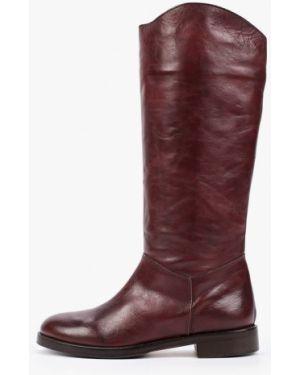 Ботинки на каблуке осенние красные Enzo Logana