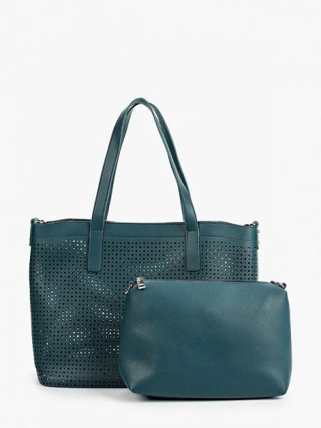 Кожаная сумка бирюзовый с ручками Ors Oro