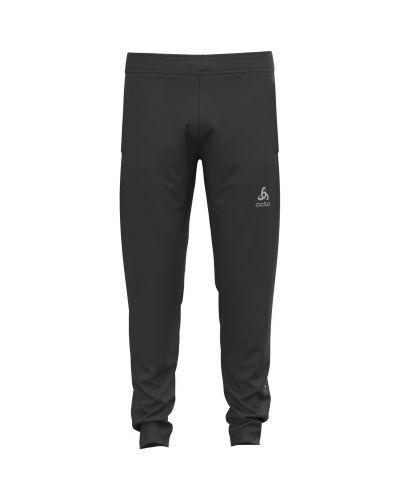 Облегченные зауженные черные брюки Odlo