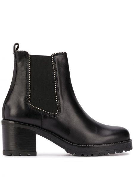 Черные ботинки на каблуке с заклепками на каблуке эластичные Carvela